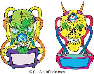 Monster Skull Templates