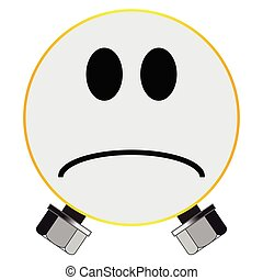 Monster Smile Face Button Isolated