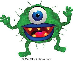 Monster - Vector illustration of green monster