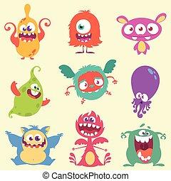 Monster vector set