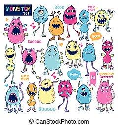 Monster vector set.
