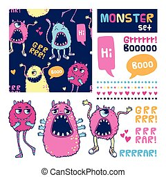 Monster vector set.