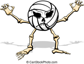 Monster Volleyball - Volleyball as a cartoon skeleton for...