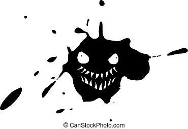 monster, vuil, uitdrukking