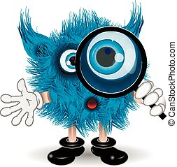 Monster with a magnifying glass