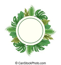 monstera leaves foliage badge