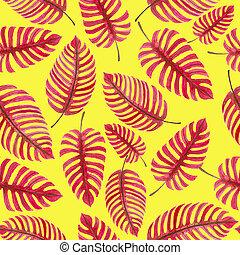 Monstera leaves pattern