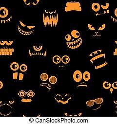 Monsters Halloween Pattern 2
