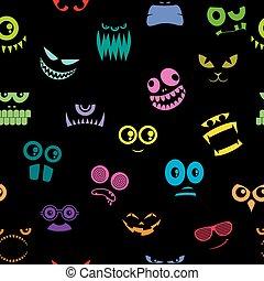 Monsters Halloween Pattern
