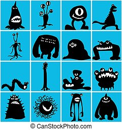 Monsters silhouette
