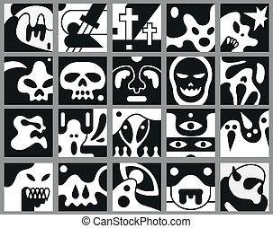 Monsters vector icons