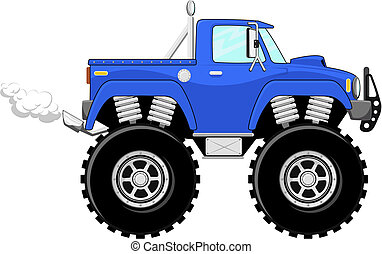 monstertruck 4x4 cartoon - monster truck 4x4 cartoon...
