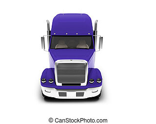 Monstertruck isolated blue front view