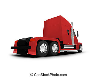 Monstertruck isolated red back view