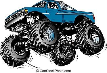 monstor truck - ford monster truck jumping