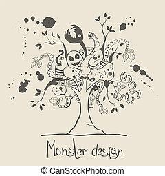 monstro, árvore