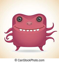 monstruo, rojo