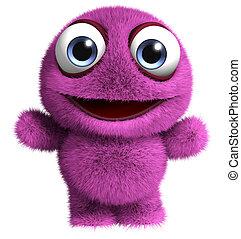 monstruo, violeta