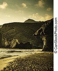 Monsul beach in Park Cabo de Gata, Spain