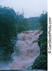 monszun, vízesés, india, közben