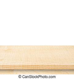 montáž, product., izolovat, dřevo, grafické pozadí, deska, neposkvrněný, vystavit, neobsazený