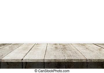 montáž, product., osamocený, dřevo, grafické pozadí, deska, neposkvrněný, vystavit, neobsazený