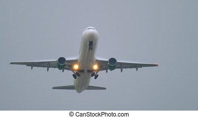 montée, avion, décollage