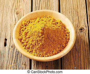 montón, polvo de curry