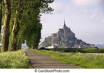 mont, 光景, michel, 聖者, フランス