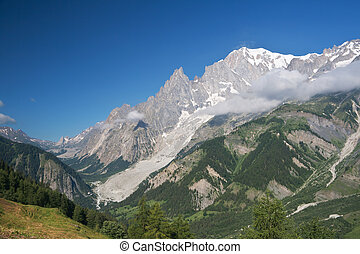 mont Blanc and Veny valley