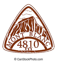 Mont Blanc stamp