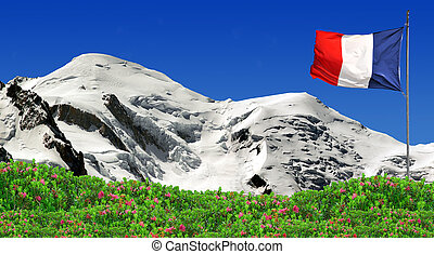 Mont Blanc-France - view of the mountains Mont Blanc-France