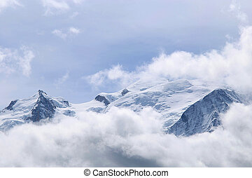 Mont Blanc in the clouds