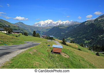 Mont-Blanc landscape by summer