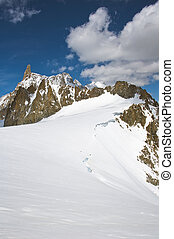 Italian Alps - Mont Blanc massif. panorama of the Italian...