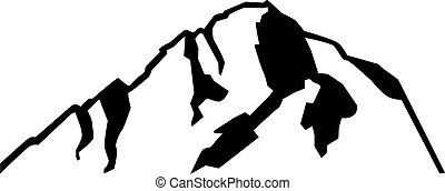 Mont Blanc mountain silhouette