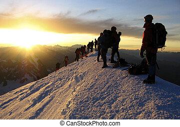 mont blanc, oberseite
