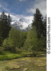 Mont Blanc - The Mont Blanc mountain range in Chamonix
