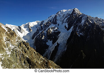 Mont Blanc, south face, from Veny valley Italy