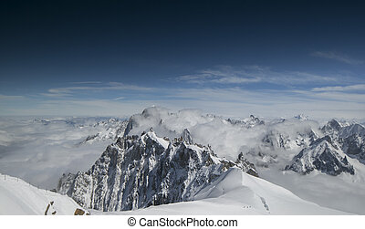 mont blanc in the french alps