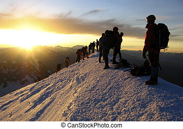 Mont Blanc top