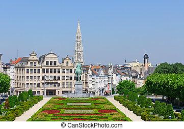 Mont des Arts in Brussels, Belgium - Mont des Arts is the ...