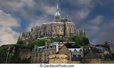 mont heiliger-michel, normandie, france--one, von, der,...