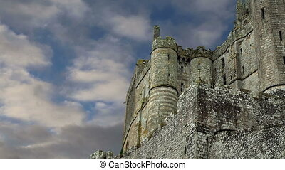 mont heiliger-michel, normandie, france--one, von, der,...