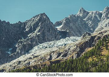 mont, landschaftsbild, landschaftlich, massiv, gletscher, ...