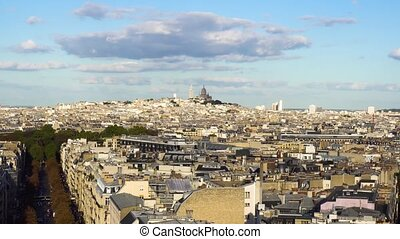 Mont Matre hill, Paris, France - cityscape of Paris Mont...