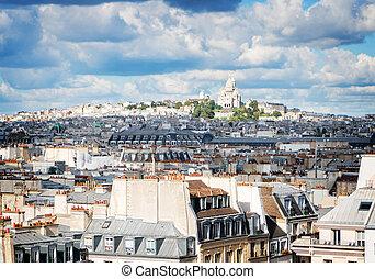 Mont Matre hill, Paris, France - cityscape of Paris Mont...
