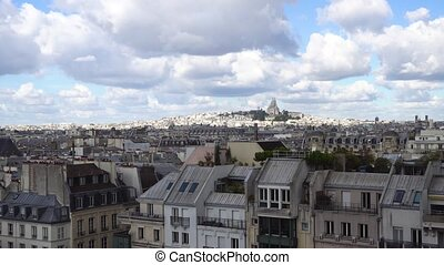Mont Matre hill, Paris, France - view of Paris Mont Matre...