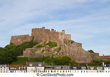 mont orgueil castle, in, gorey, jersey, vereinigtes königreich