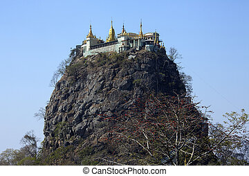 Mont Popa - Myanmar (Burma) - Mount Popa is an extinct...